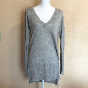 Trouve Medium Gray Long Sweater